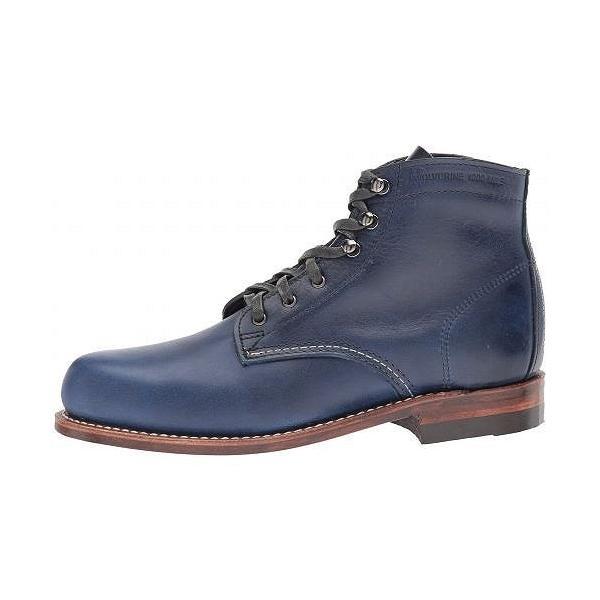 Wolverine Heritage レディース 女性用 シューズ 靴 ブーツ レースアップブーツ Original 1000 Mile Boot - Dark Blue Leather