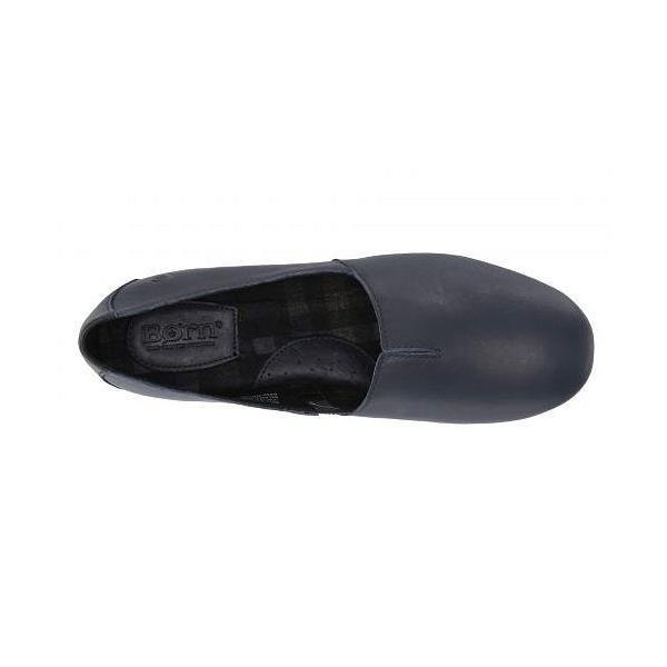 Born ボーン レディース 女性用 シューズ 靴 ローファー ボートシューズ Sebra - Navy Full Grain Leather