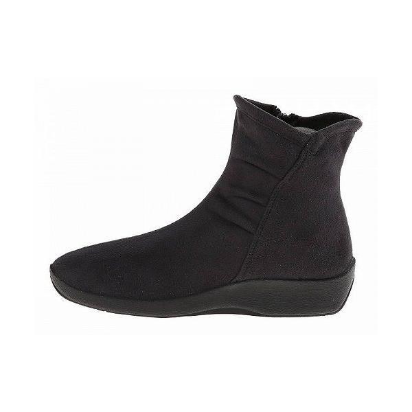 Arcopedico アルコペディコ レディース 女性用 シューズ 靴 ブーツ アンクルブーツ ショート L19 - Black Faux Suede