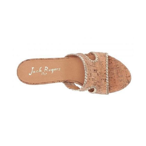 Jack Rogers ジャックロジャース レディース 女性用 シューズ 靴 ヒール Sloane Mid Wedge - Cork/Gold