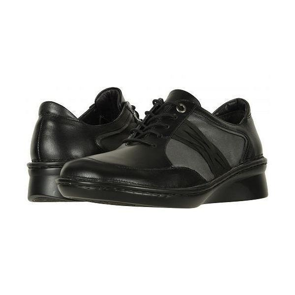 Naot ナオト レディース 女性用 シューズ 靴 オックスフォード 紳士靴 通勤靴 Mezzo - Black Leather Combo