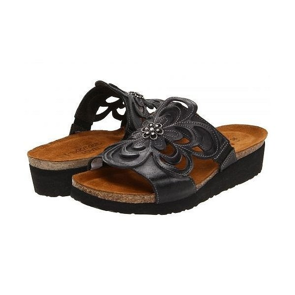 Naot ナオト レディース 女性用 シューズ 靴 サンダル Sandy - Brushed Black Leather