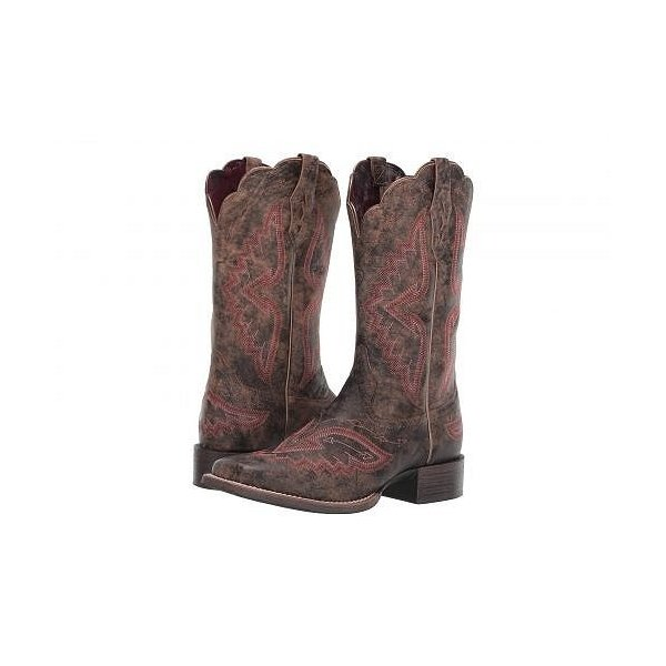 Ariat アリアト レディース 女性用 シューズ 靴 ブーツ ウエスタンブーツ Round Up Santa Fe - Distressed Truffle