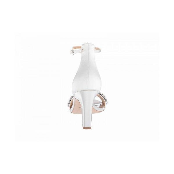 Badgley Mischka バッジリーミシュカ レディース 女性用 シューズ 靴 ヒール Laraine - Soft White Satin