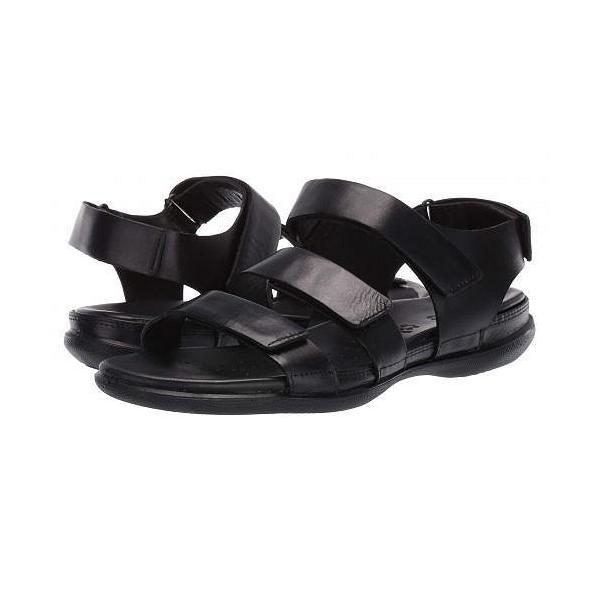 ECCO エコー レディース 女性用 シューズ 靴 サンダル Flash Flat Sandal - Black Cow Nubuck