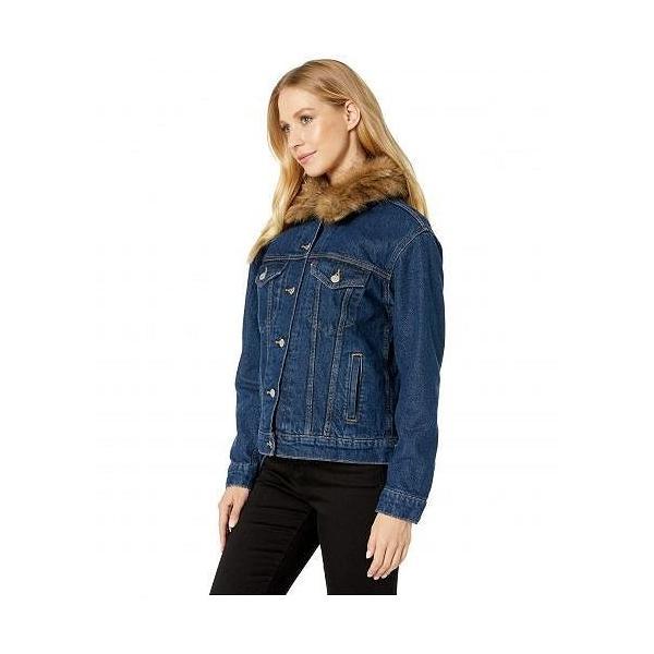Levi's(R) Womens リーバイス レディース 女性用 ファッション アウター ジャケット コート ジージャン Ex Boyfriend Faux Fur Collar Trucker - Short Stack