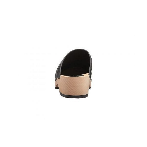 Swedish Hasbeens スウェディッシュハズビーンズ レディース 女性用 シューズ 靴 クロッグ ミュール Swedish Husband - Black/Black Rubber