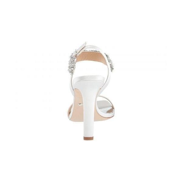 Badgley Mischka バッジリーミシュカ レディース 女性用 シューズ 靴 ヒール Lilly - Soft White Satin