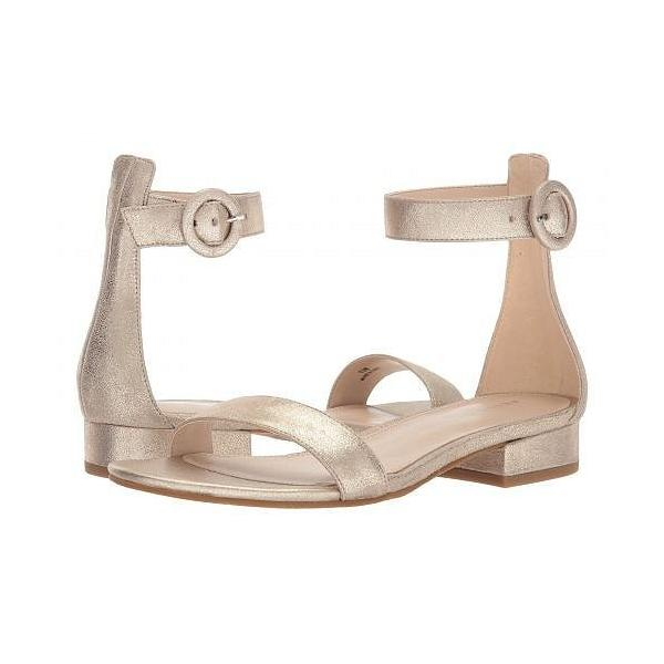 Pelle Moda ペレモーダ レディース 女性用 シューズ 靴 サンダル Newport - Platinum Gold Metallic Suede