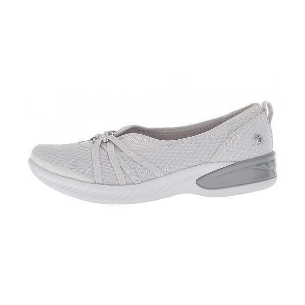 Bzees レディース 女性用 シューズ 靴 フラット Niche - Grey Chevron Mesh