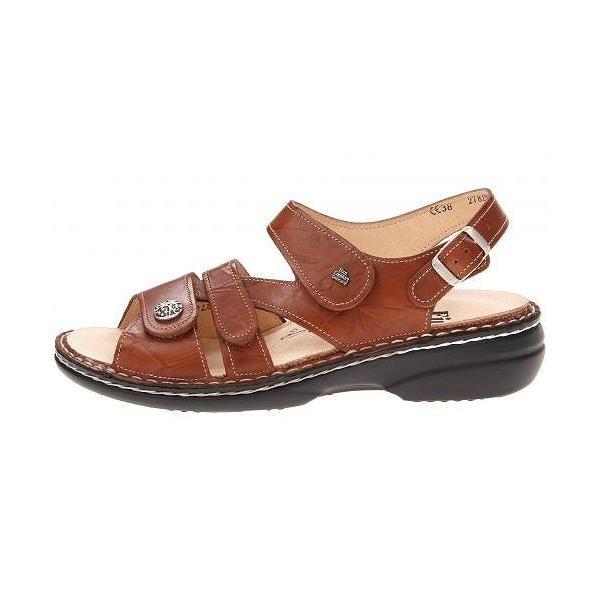 Finn Comfort フィンコンフォート レディース 女性用 シューズ 靴 サンダル Gomera - 82562 - Cognac