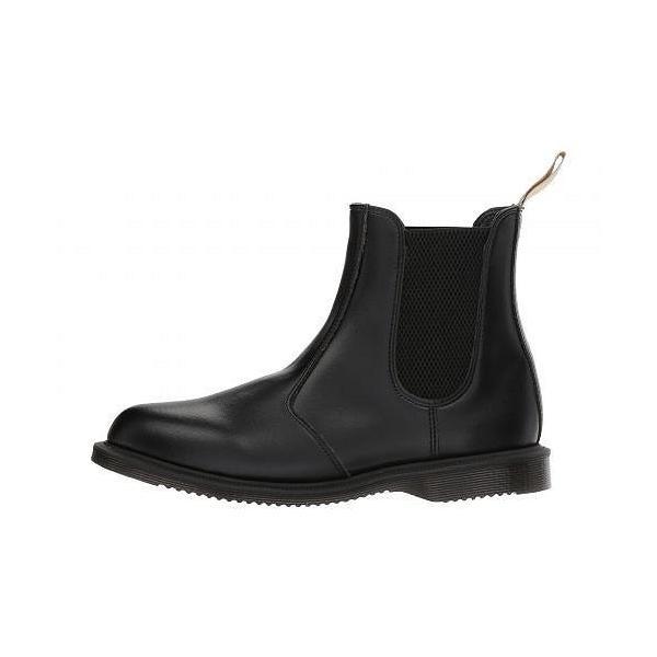 Dr. Martens ドクターマーチン レディース 女性用 シューズ 靴 ブーツ チェルシーブーツ アンクル Vegan Flora - Black Felix Rub Off