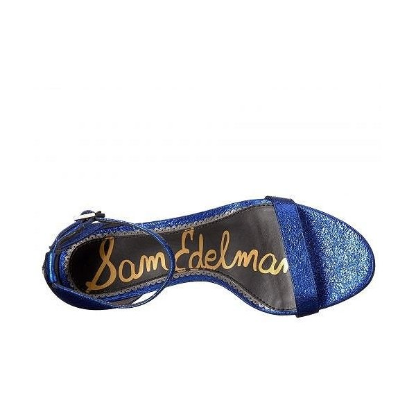 Sam Edelman サムエデルマン レディース 女性用 シューズ 靴 ヒール Patti - Royal Blue Soft Crinkle Metallic Leather