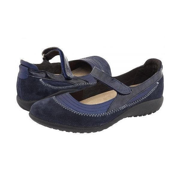 Naot ナオト レディース 女性用 シューズ 靴 フラット Kirei - Polar Sea Leather/Blue Velvet Suede/Navy Patent Leather