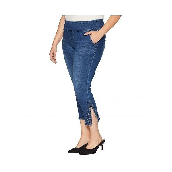 Jag Jeans Plus Size ジャグジーンズ レディース 女性用 ファッション ジーンズ デニム Plus Size Naomi Pull-On Crop w/ Studs in Kodiak Blue - Kodiak Blue