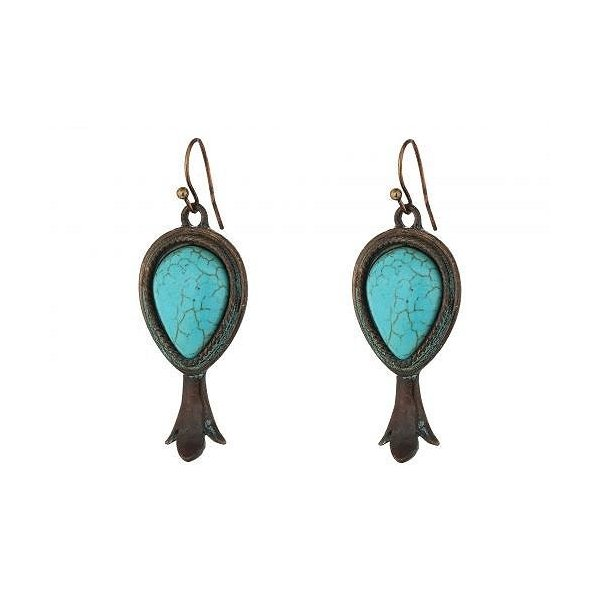 M&F Western エムアンドエフウエスタン レディース 女性用 ジュエリー 宝飾品 セット Large Squash Blossom Necklace/Earrings Set - Copper/Patina