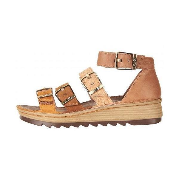 Naot ナオト レディース 女性用 シューズ 靴 サンダル Begonia - Oily Dune Nubuck/Desert Suede/Gold Cork Leather/Latte Brown Leat