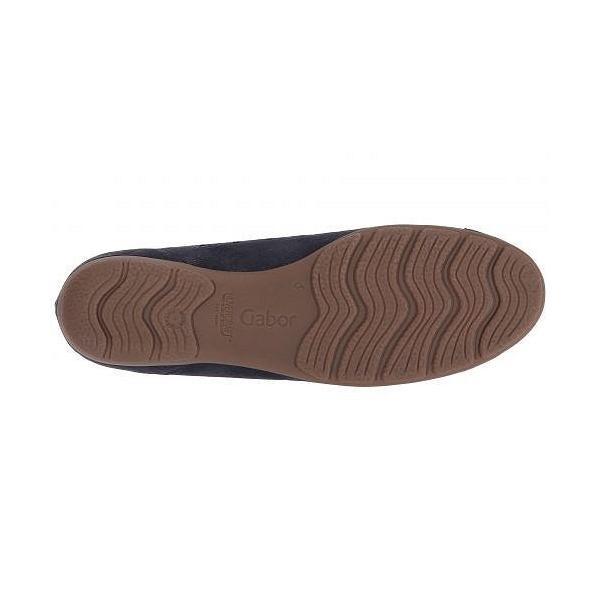 Gabor ガボール レディース 女性用 シューズ 靴 フラット Gabor 84.169 - Navy Caruso Metallic