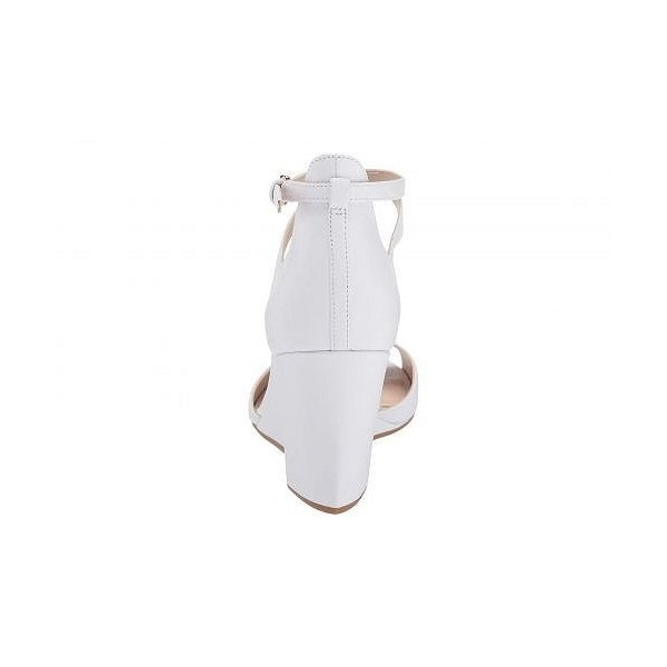 Cole Haan コールハーン レディース 女性用 シューズ 靴 ヒール 75 mm Sadie Grand Open Toe Wedge Sandal - Optic White Leather