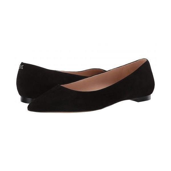 Sam Edelman サムエデルマン レディース 女性用 シューズ 靴 フラット Sally - Black Kid Suede Leather