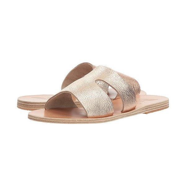 Ancient Greek Sandals レディース 女性用 シューズ 靴 サンダル Apteros - Pink Metal/Sand Metallic Crosta