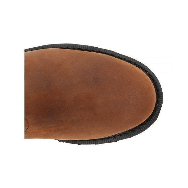 "Carhartt カーハート レディース 女性用 シューズ 靴 ブーツ 安全靴 ワークブーツ 10"" Waterproof Wellington Steel Toe - Dark Bison Oil Tanned/Carstrong"