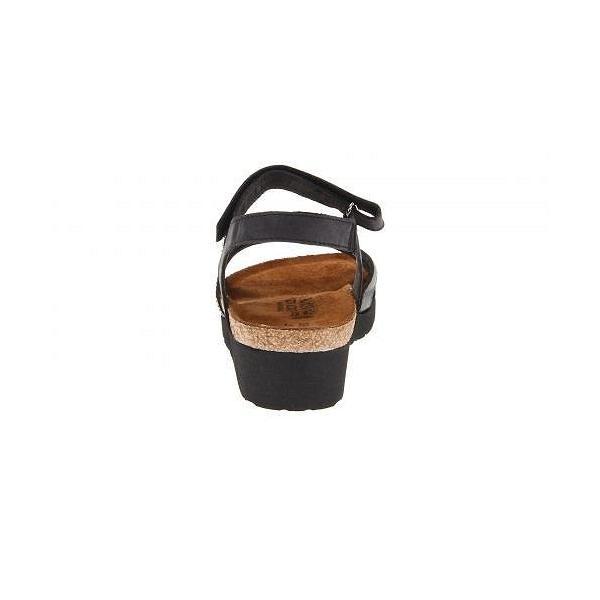 Naot ナオト レディース 女性用 シューズ 靴 サンダル Sophia - Brushed Black Leather/Black Crinkle Patent Leather/Metallic Road