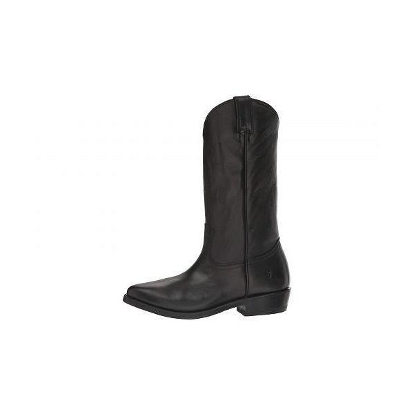 Frye フライ レディース 女性用 シューズ 靴 ブーツ ミッドカフ Billy Pull-On - Black Polished Soft Full Grain