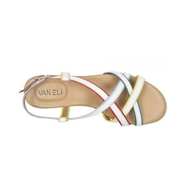 Vaneli ヴァネリ レディース 女性用 シューズ 靴 サンダル Bryant - White Nappa/Multicolor Ribbon/Yellow