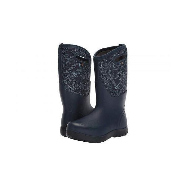 Bogs ボグス レディース 女性用 シューズ 靴 ブーツ 安全靴 ワークブーツ Neo-Classic Tall Spring Leaf - Dark Blue Multi
