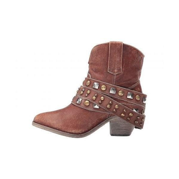 Corral Boots コーラルブーツ」 レディース 女性用 シューズ 靴 ブーツ アンクルブーツ ショート P5042 - Cognac