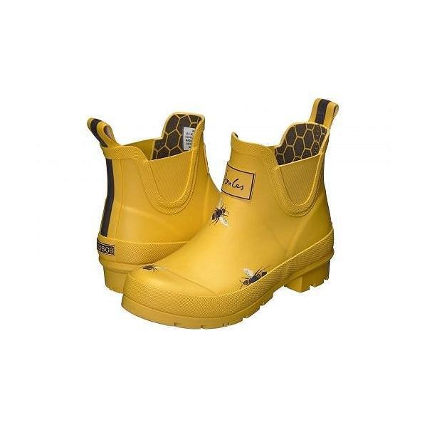 Joules レディース 女性用 シューズ 靴 ブーツ レインブーツ Wellibob - Gold Botanical Bee