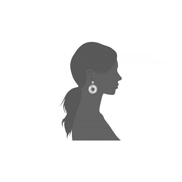 Nina ニーナ レディース 女性用 ジュエリー 宝飾品 イヤリング Mother-Of-Pearl Medallion Earrings - Rhodium/Mother Of Pear/White CZ