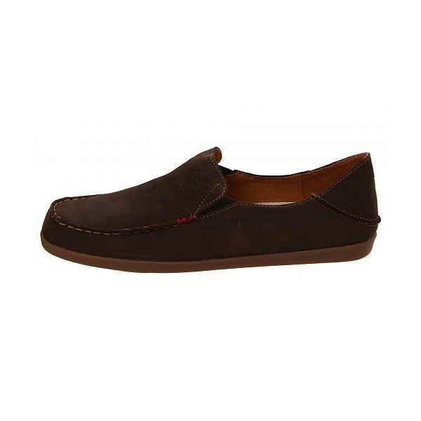 Olukai オルカイ レディース 女性用 シューズ 靴 ローファー ボートシューズ Nohea Nubuck - Dark Java/Tan