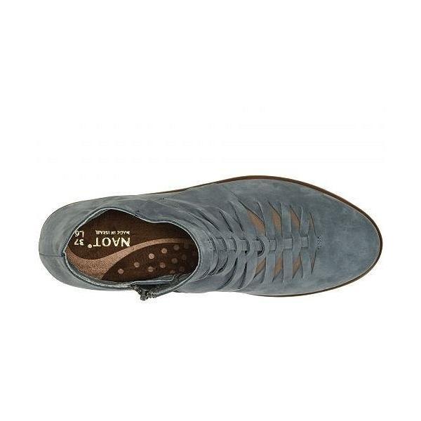 Naot ナオト レディース 女性用 シューズ 靴 ブーツ アンクルブーツ ショート Leveche - Feathery Blue Nubuck/Shiitake Nubuck