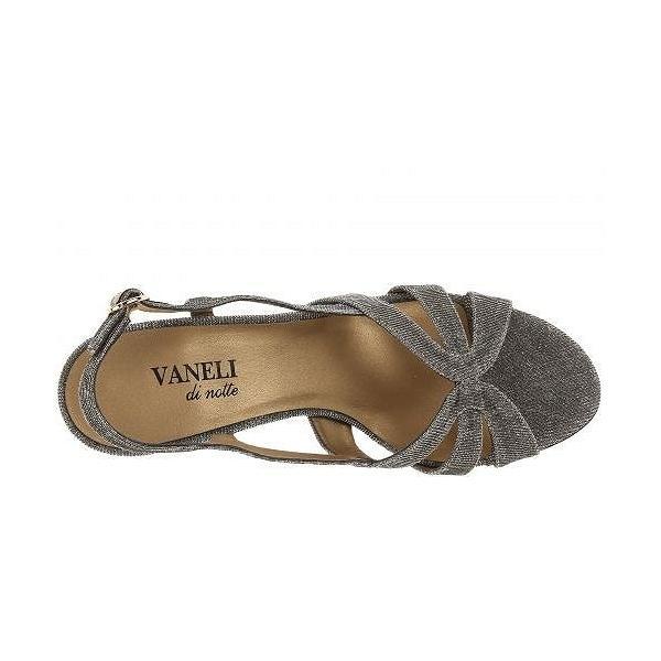 Vaneli ヴァネリ レディース 女性用 シューズ 靴 ヒール Maeve - Platinum Nizza Fabric/Gold Buckle