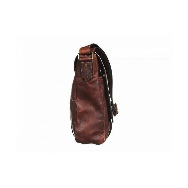 Frye フライ メンズ 男性用 バッグ 鞄 メッセンジャーバッグ ショルダーバッグ Logan Messenger - Dark Brown Antique Pull Up