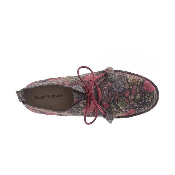 Hush Puppies ハッシュパピーズ レディース 女性用 シューズ 靴 ブーツ チャッカブーツ アンクル Cyra Catelyn - Black Floral Suede