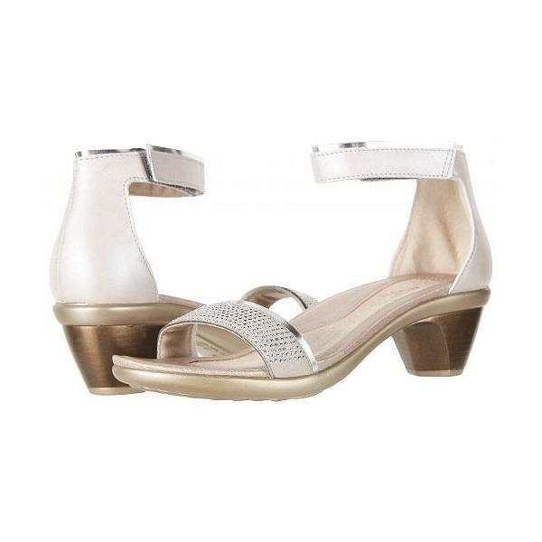 Naot ナオト レディース 女性用 シューズ 靴 ヒール Progress - Quartz Leather/Silver Mirror Leather/Beige/Rivets/Rhinestones
