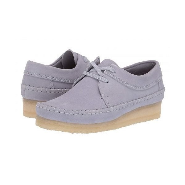 Clarks クラークス レディース 女性用 シューズ 靴 オックスフォード 紳士靴 通勤靴 Weaver - Cool Blue Suede