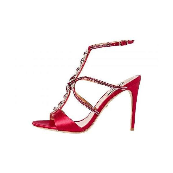 Badgley Mischka バッジリーミシュカ レディース 女性用 シューズ 靴 ヒール Faye - African Red Satin