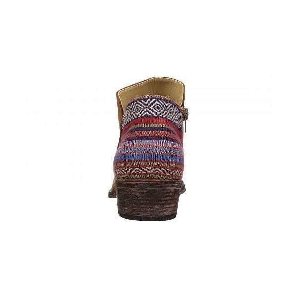 Roper ローパー レディース 女性用 シューズ 靴 ブーツ アンクルブーツ ショート Sedona - Cognac Faux Leather Vamp/Serape Heel