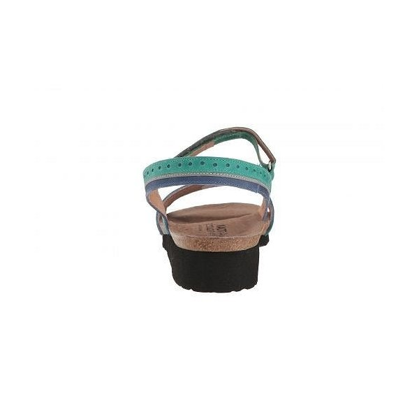 Naot ナオト レディース 女性用 シューズ 靴 サンダル Beverly - Oily Emerald Nubuck/Oily Blue Nubuck/Silver Mirror Leather