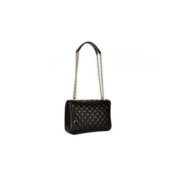 Love Moschino ラブ モスキーノ レディース 女性用 バッグ 鞄 ショルダーバッグ バックパック リュック Shinny Quilted Handbag with Chain Strap - Black