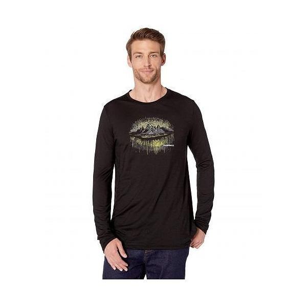 Smartwool スマートウール メンズ 男性用 ファッション アクティブシャツ Merino Sport 150 Mountain Aurora Long Sleeve Tee - Black|ilovela
