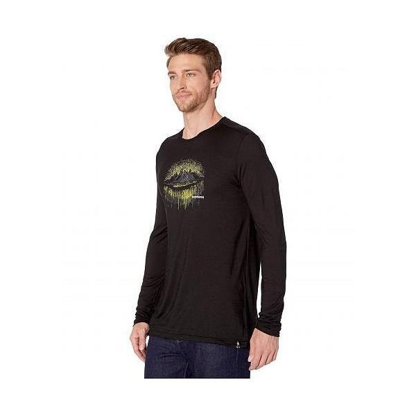 Smartwool スマートウール メンズ 男性用 ファッション アクティブシャツ Merino Sport 150 Mountain Aurora Long Sleeve Tee - Black|ilovela|02