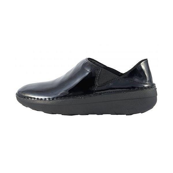 FitFlop フィットフロップ レディース 女性用 シューズ 靴 ローファー ボートシューズ Superloafer Patent - Black