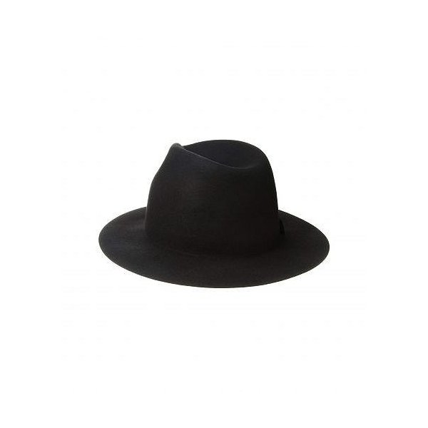 San Diego Hat Company サンディエゴハットカンパニー レディース 女性用 ファッション雑貨 小物 帽子 WFH8205 Packable Felt Fedora - Black