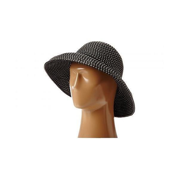 San Diego Hat Company サンディエゴハットカンパニー レディース 女性用 ファッション雑貨 小物 帽子 サンハット RBM4784 Ribbon Kettle Brim Hat - Black