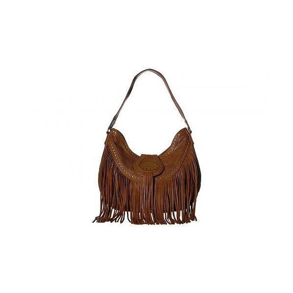 Scully スカリー レディース 女性用 バッグ 鞄 ショルダーバッグ バックパック リュック Amanda Fringe Shoulder Bag - Brown